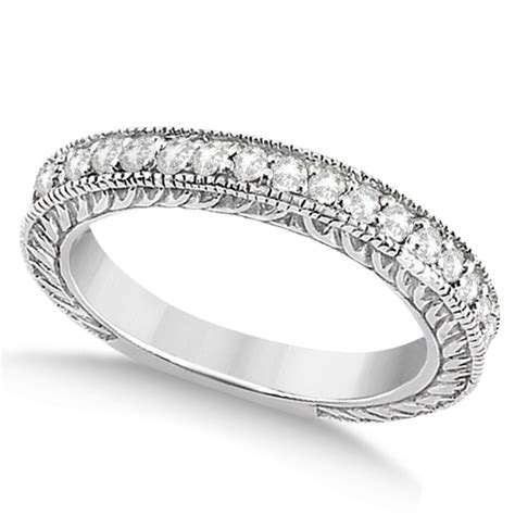 Wedding Bands Vintage Style by Vintage Style Filigree Wedding Band 14k White Gold