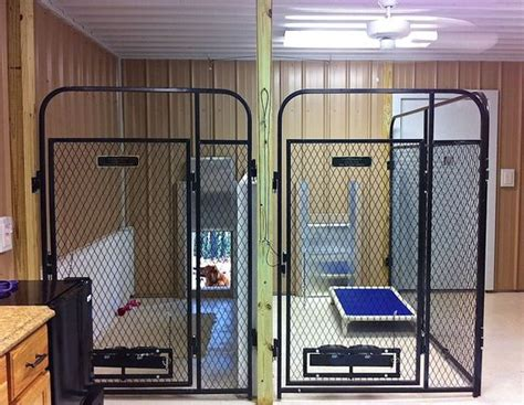 dog kennel in garage inside multiple dog cages multiple dog kennels