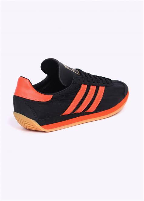adidas orange black adidas originals country og trainers black orange