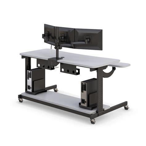 bi level computer workstation desk afcindustries com