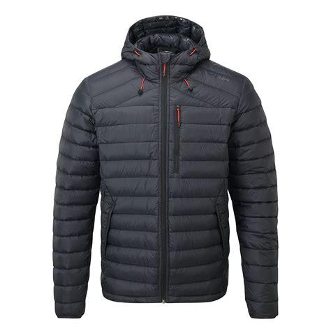 Hooded Puffer Jacket zenon mens puffer hooded jacket in black