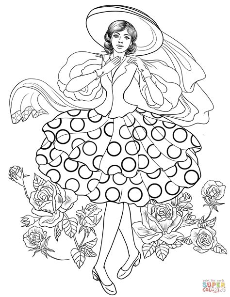 50 Coloring Page by From Stylish 50 S Coloring Page Free Printable