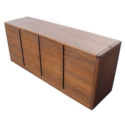 Credenza With File Cabinet 6ft vintage steelcase walnut credenza file cabinet ebay