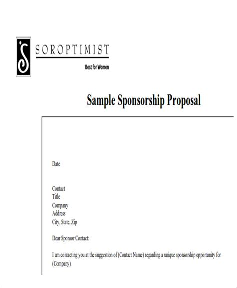 7 sle event proposal letters sle templates