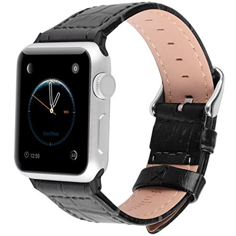 Hoco Bamboo Texture Leather Band For Apple Series 1 2 3 fullmosa apple bands 42mm jan series bamboo on sale for 15 99