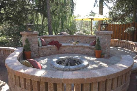 Patios With Fire Pits by Yard Verbena