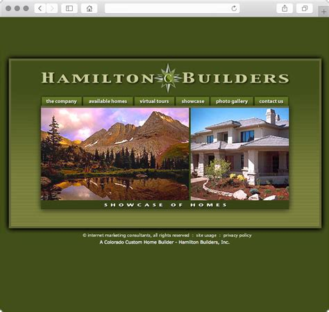 colorado custom home builder web design