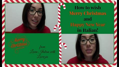 merry christmas  happy  year  italian youtube