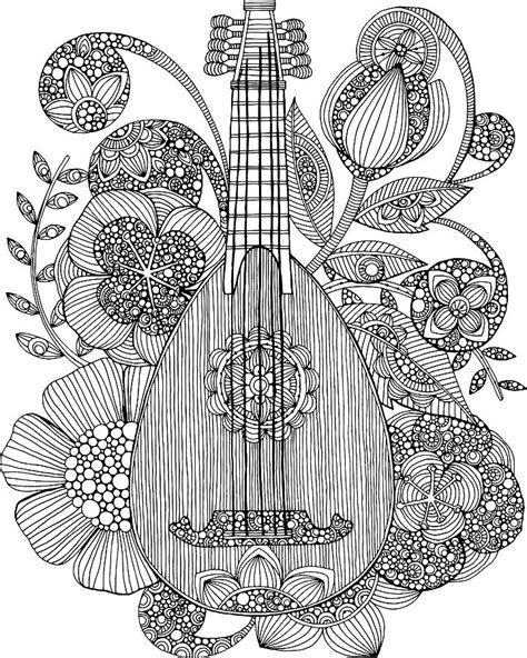 valentina designs coloring pages ever mandolin drawing by valentina harper