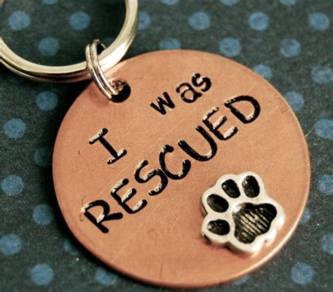 Handmade Id Tags - items similar to custom pet id tag i was rescued id