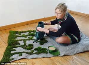 Living Room Grass Rug Real Grass Rug Brings Freshly Cut Lawn Into Your Living