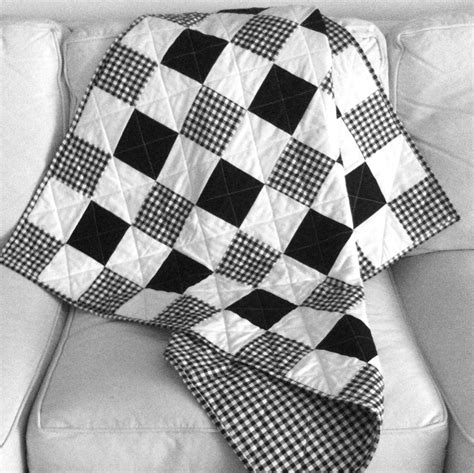 black and white baby quilt pattern baby quilt gingham style notions the connecting