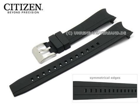 Replacement watch strap CITIZEN BJ2111 08E 23mm black rubber