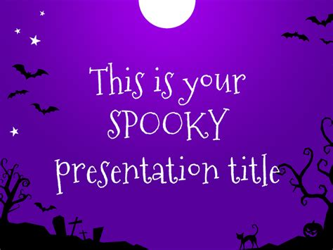 free halloween powerpoint templates download free ppt free presentation template for halloween funny and spooky