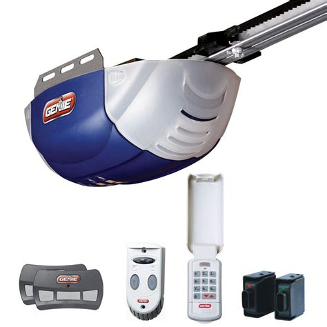 Garage Door Opener Belt Drive Genie Quietlift 800 1 2 Hp Dc Motor Belt Drive Garage Door Opener 2042 Tk The Home Depot