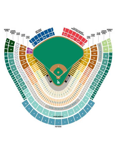 dodger stadium seating chart infield reserve website of