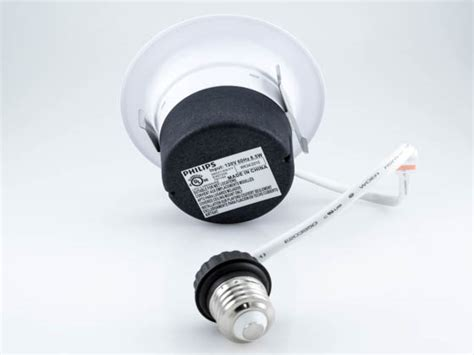 Philips Downlight Type 66664 4 White philips 50w halogen equivalent 8 5 watt dimmable 4 quot led