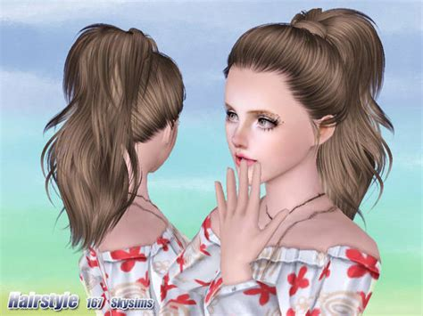 sims 3 high ponytail high wrapped ponytail hairstyle 167 by skysims sims 3 hairs