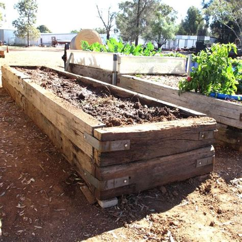 Railroad Ties For Garden by Building Raised Garden Beds With Railroad Ties In Meg39s