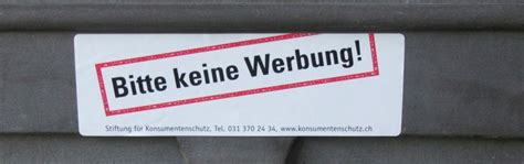 Ch Aufkleber Migros by Missachtung Des Quot Stopp Werbung Quot Klebers Stiftung F 252 R