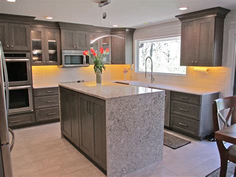 diy kitchen island waterfall edge kitchens i want to waterfall island kitchen callier and thompson