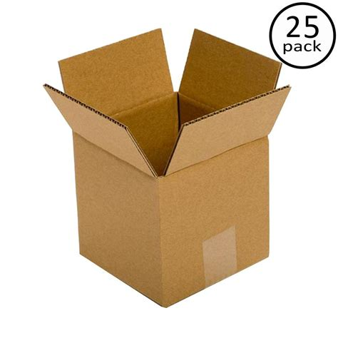 Home Depot Small Box Plain Brown Box 6 In X 6 In X 6 In 25 Box Bundle