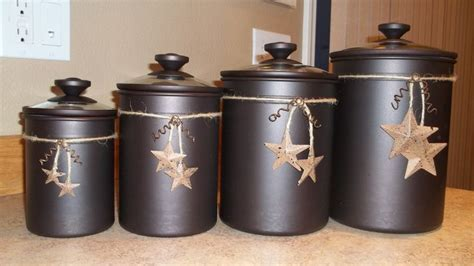 primitive kitchen canisters what i did with plain chocolate canaster s for the home