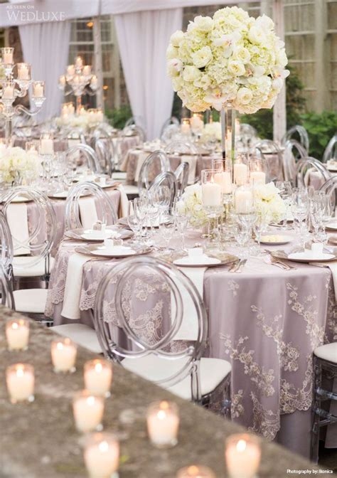silver centerpieces for table brooke jason graydon hall manor photographed by