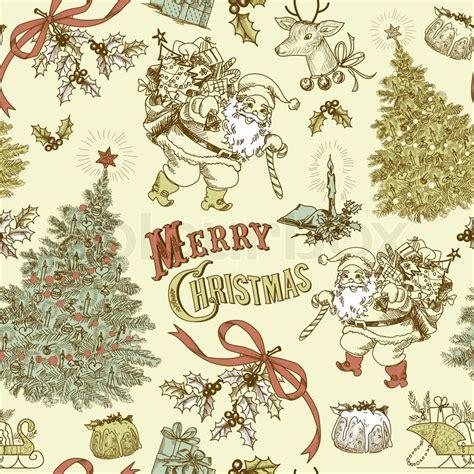 vintage holiday pattern vintage christmas seamless pattern stock photo colourbox