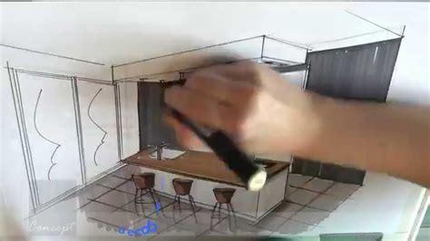 cuisine équipée petit espace 2308 cuisine un d dessin simple point ligne perspective d une