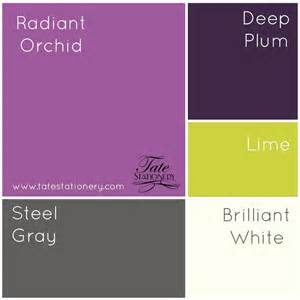 colors to go with lime green tate stationery