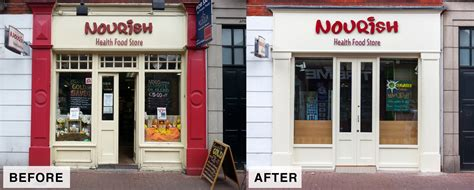 bank shop shop front nourish dublin laurel bank joinery shop fronts