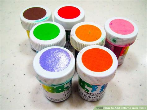 how to add color to gum paste 13 steps with pictures
