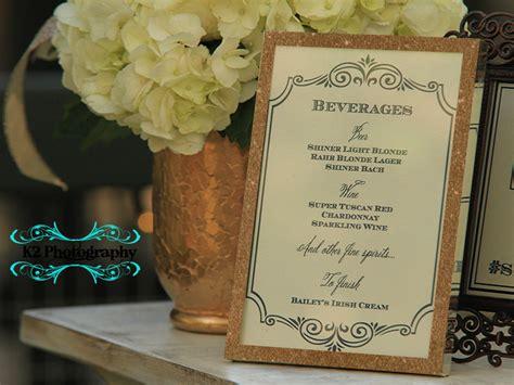 wedding menu stations 01 austin invitations company dragonfly designs day of
