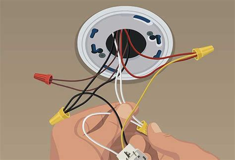 how to install smoke detector steps to install hard wired smoke and co alarms at the