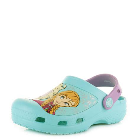 Flat Shoes Character Frozen crocs creative frozen elsa pool clogs shoes