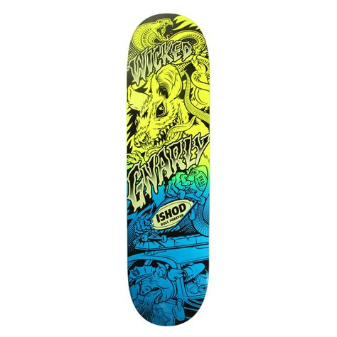 Awesome Skateboard Deck by Real Wair Psycho Awesome 2 Neon 8 06 Skateboard Deck Evo