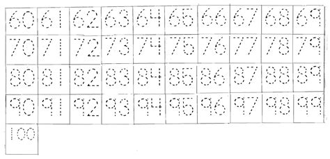 printable tracing numbers 1 100 5 best images of 1 to 50 multiplication number chart