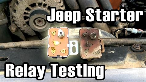 89 Cherokee Starter Relay Diagnosis And Replacement Youtube