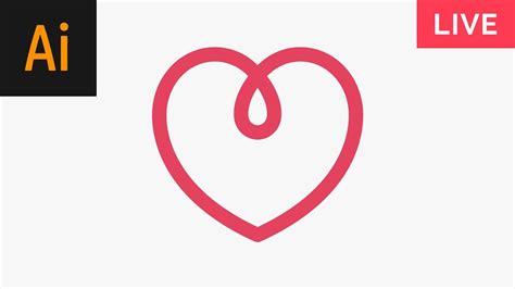 tutorial illustrator heart design a heart logo illustrator tutorial youtube