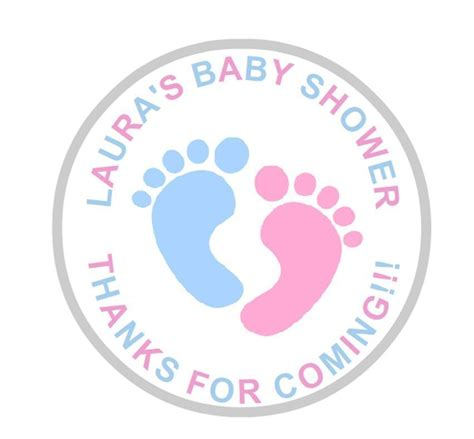 Baby Shower Label Stickers by 24 Personalised Baby Shower Stickers Labels Pink And Blue