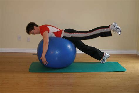 swaying ball plank