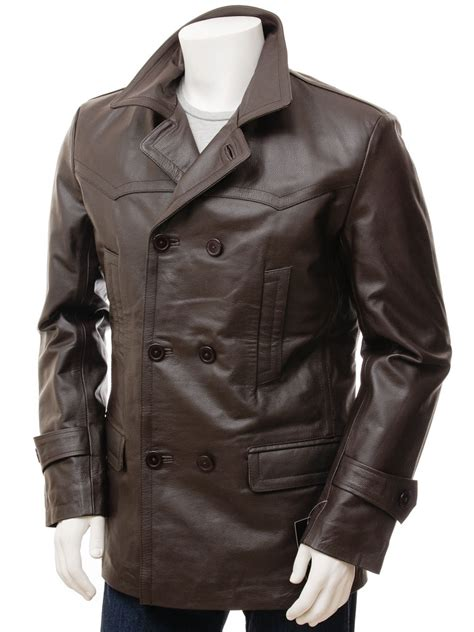 cool style double breasted leather blazer leatherexotica