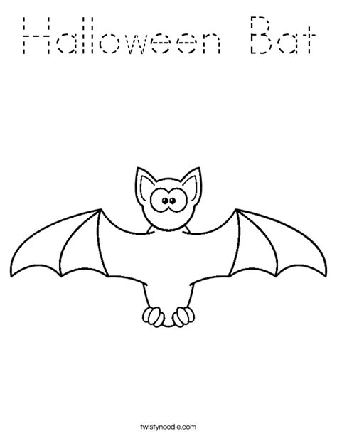 halloween coloring pages twisty noodle halloween bat coloring page tracing twisty noodle