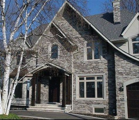 stone siding for houses exterior home stone siding canyon stone canada house facade pinterest stone