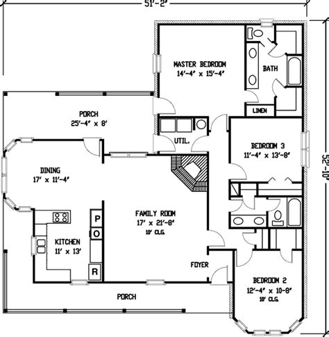 simple country farmhouse plan 1929gt 1st floor master