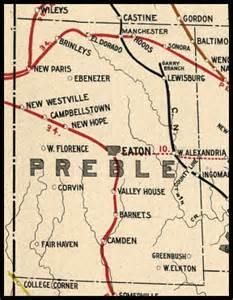 Eaton Ohio Map by Preble County Ohio Railroad Stations
