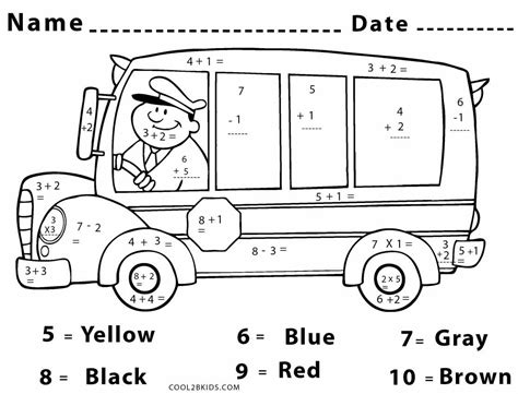 coloring pages middle school high school math color by number sketch coloring page