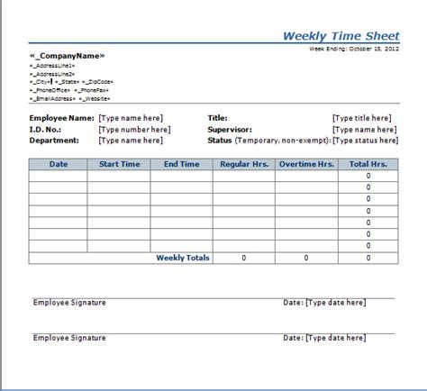 Weekly Time Sheet Template by 100 Word Timesheet Template Time Sheet Template