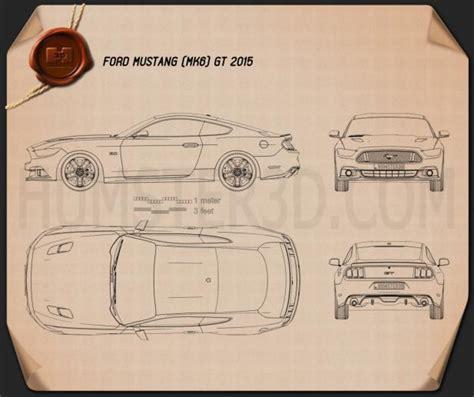 ford mustang gt 2015 blueprint hum3d